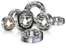 Metal bearings on white Royalty Free Stock Photo