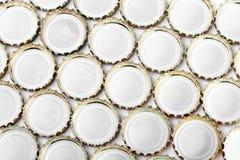 Metal Beer bottle caps Stock Photo