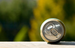 Metal beer can, unopened Royalty Free Stock Photos
