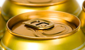 Metal beer can, unopened Royalty Free Stock Image