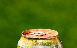 Metal beer can, unopened Royalty Free Stock Photo