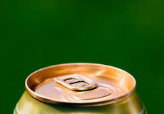 Metal beer can, unopened Stock Image