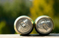 Metal beer can, unopened Stock Photo