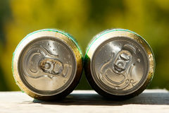 Metal beer can, unopened Stock Images