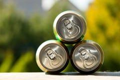 Metal beer can, unopened Stock Photos