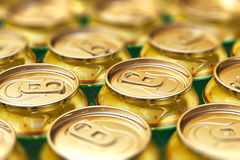 Metal beer drink cans Stock Photography