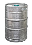 Metal beer keg. Isolated. Clipping path included Royalty Free Stock Images