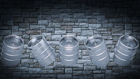 Metal Beer Keg Stock Images
