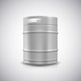 Metal beer keg. With grained and shadow, vector illustration Royalty Free Stock Photography