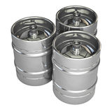 Metal beer kegs Stock Photography