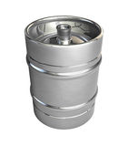 Metal beer kegs Stock Photo