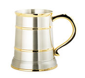 Metal beer mug Stock Photo