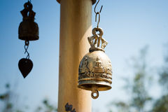 Metal bell in temple. Royalty Free Stock Photo
