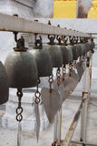 Metal bells. In Buddhist temple Royalty Free Stock Image