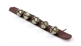 Metal Bells On Leather Strap Royalty Free Stock Photography