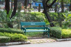 Metal bench in Chatuchak Park Royalty Free Stock Images