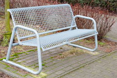 Metal bench Stock Photography