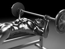 Metal bench press. 3d rendered illustration - metal bench press Stock Photo