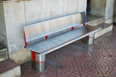 Metal Bench in a station Royalty Free Stock Photography