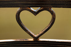 Metal bend in heart shape Royalty Free Stock Photography