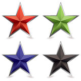 Metal bevel star shape Royalty Free Stock Photo