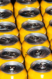 Metal beverage cans. Series of metal beverage cans Stock Photography