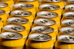Metal beverage cans Stock Images