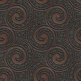 Metal bezszwowa tekstura z zawijasa wzorem ilustracji
