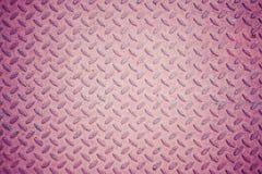 Metal bezszwowej stali diamentu talerza tekstury wzoru tło Fotografia Stock