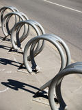 Metal Bicycle Parking Rack Construction Stock Images