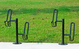 Metal Bicycle Racks Stock Photography