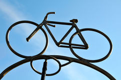 Metal Bicycle Sculpture Royalty Free Stock Images