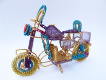 Metal Bike. A colorful metal bike made up of metal coils made by indian handicraft mans Royalty Free Stock Image