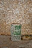 Metal bin. Green metal bin in factory Royalty Free Stock Photography
