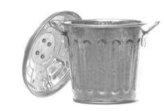 Metal Bin Isolated Royalty Free Stock Image