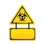 Metal biohazard warning notice sign icon Royalty Free Stock Image