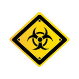 Metal biohazard warning sign icon Stock Images