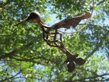 Metal bird Royalty Free Stock Images