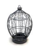 Metal birdcage при орнаменты изолированные на белой предпосылке 3d Стоковые Изображения