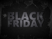 Metal Black Friday Foto de archivo