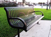 Free Metal Black Park Bench Royalty Free Stock Photo - 116290935