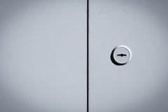 Metal black and white door background Stock Image