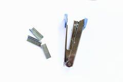 Metal blanco de plata máximo de la grapadora Fotos de archivo libres de regalías