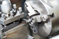 Metal blank machining process Stock Image