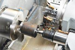 Metal blank machining process Royalty Free Stock Images