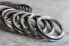 Metal blank - a turbine ring royalty free stock image