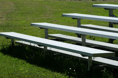 Metal Bleachers in the Park Royalty Free Stock Photo