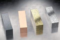 Metal bllocks Royalty Free Stock Photo