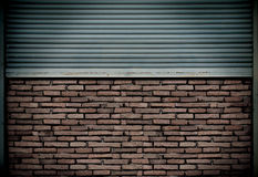 Metal block wall Stock Photography