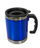 Metal blue cup. Stock Images